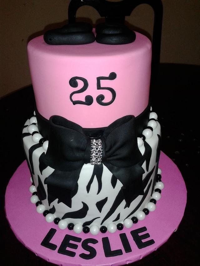 Magnificent Zebra Print Birthday Cake Cake By Rosa Cakesdecor Personalised Birthday Cards Veneteletsinfo