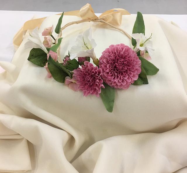 Sugar flower wreath for girl