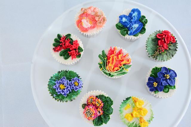Srilankan wild flora cupcakes