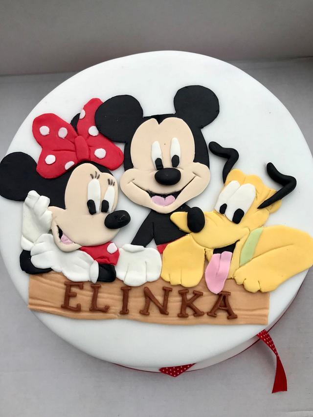 Excellent Minnie Mickey Pluto Cake By Dasa Cakesdecor Funny Birthday Cards Online Amentibdeldamsfinfo