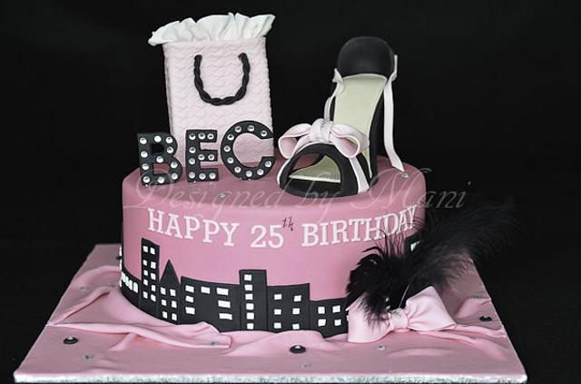 Sex 'n' the city themed cake