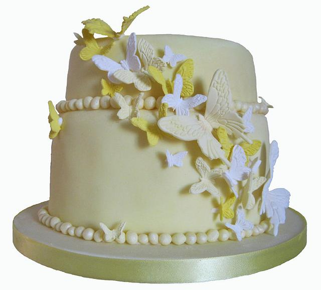 Lemon butterfly cake