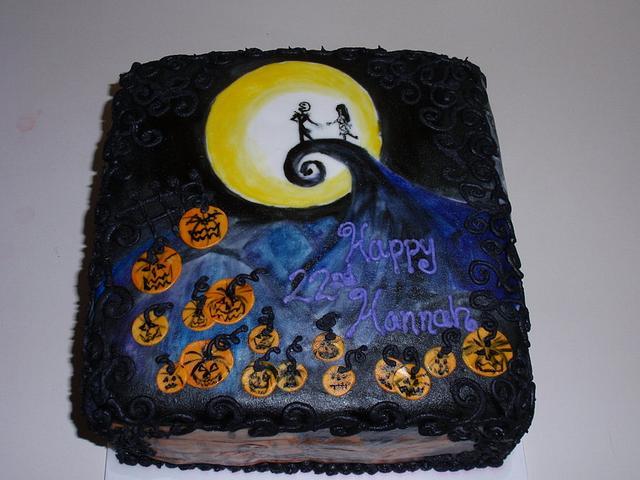 Tim Burton Inspired Cake