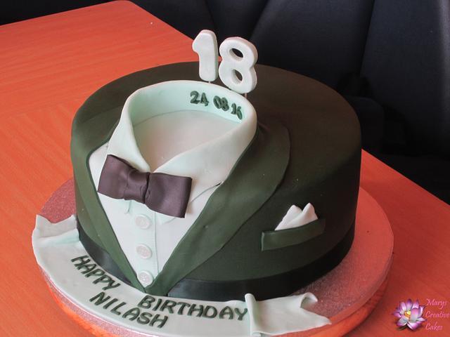 Suit and Shirt  Birthday Cake
