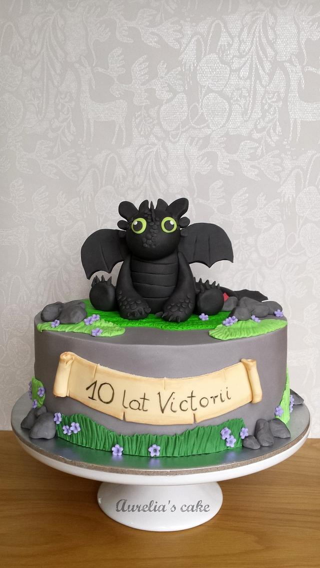 How to train your dragon cake.