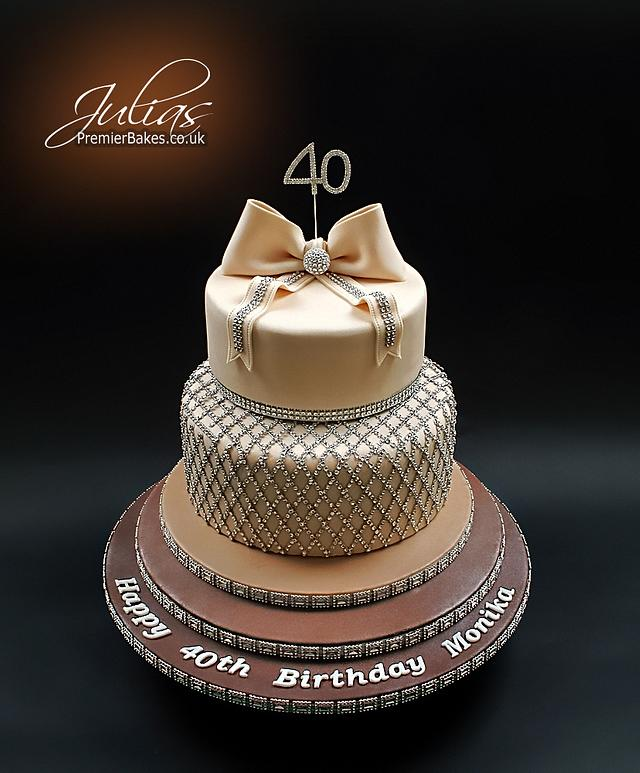 Superb 40Th Birthday Cake Cake By Premierbakes Julia Cakesdecor Funny Birthday Cards Online Elaedamsfinfo