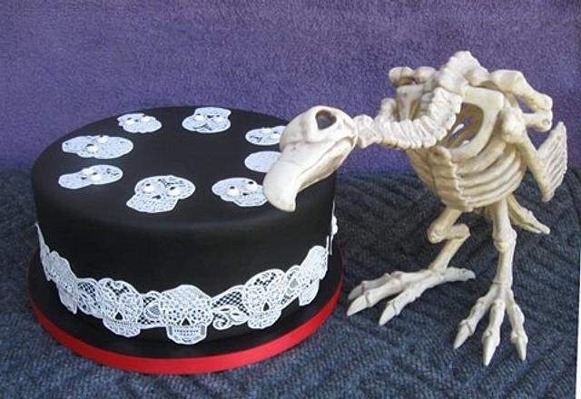 Day of the Dead party cake with Googly Eyes