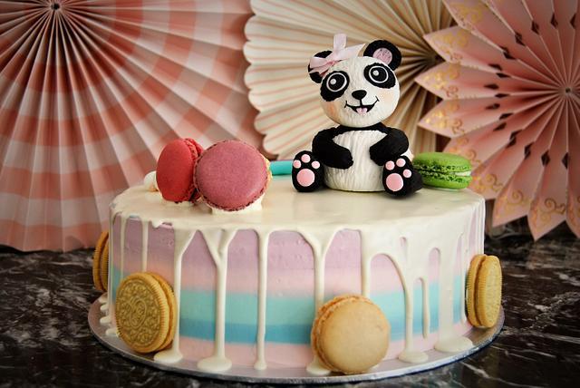 Outstanding Drip Cake With Panda Bear Cake By Wedding Painting Cakesdecor Funny Birthday Cards Online Inifofree Goldxyz