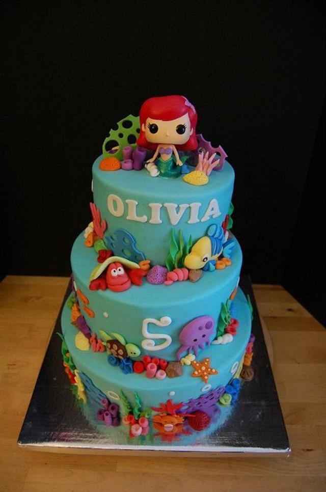 Olivia's Ariel Cake