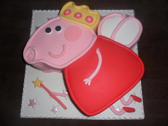 large peppa pig angel birthday cake