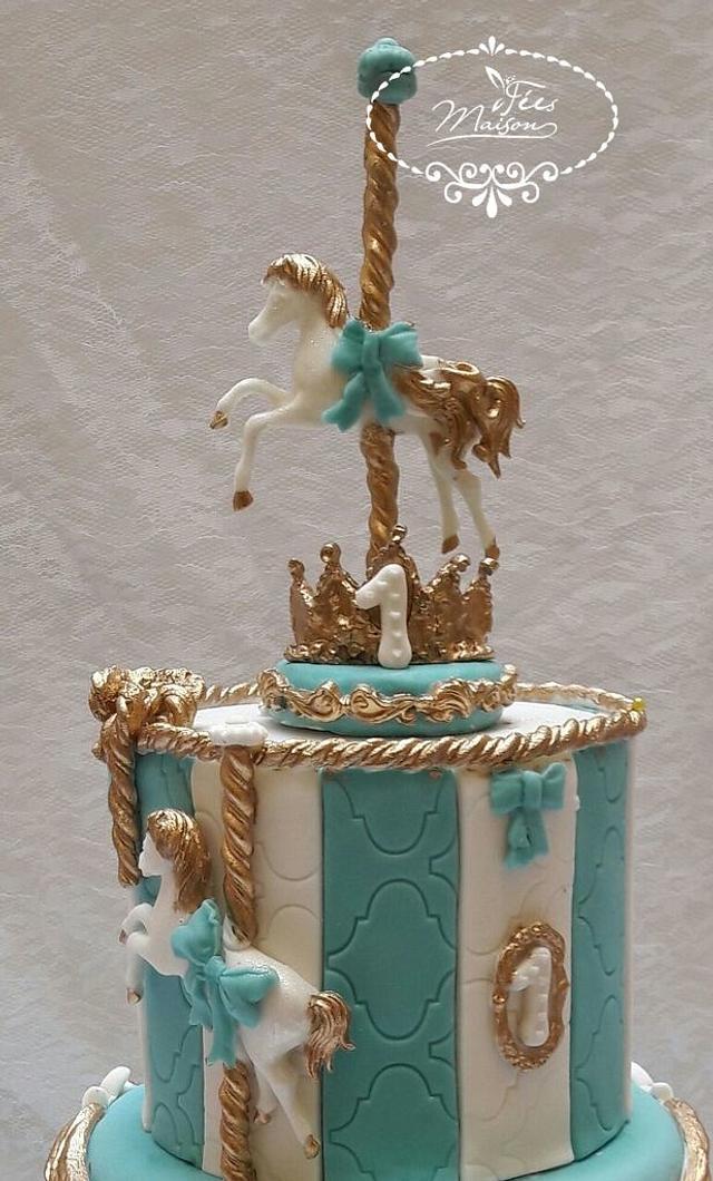 A carousel cake