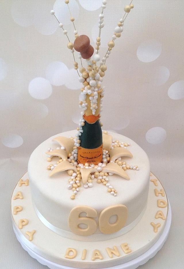 Wondrous Popping Champagne Corks 60Th Birthday Cake Cake By Cakesdecor Funny Birthday Cards Online Hetedamsfinfo