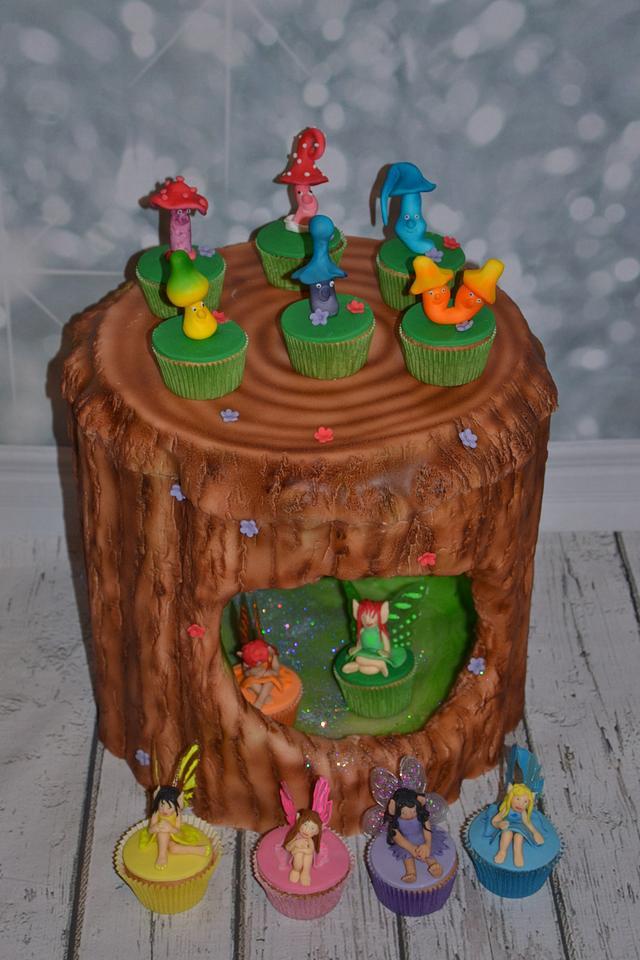 fairy / mushroom  cupcakes