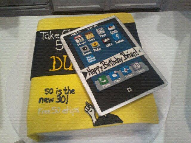 Birthday cake for an iPad geek!!
