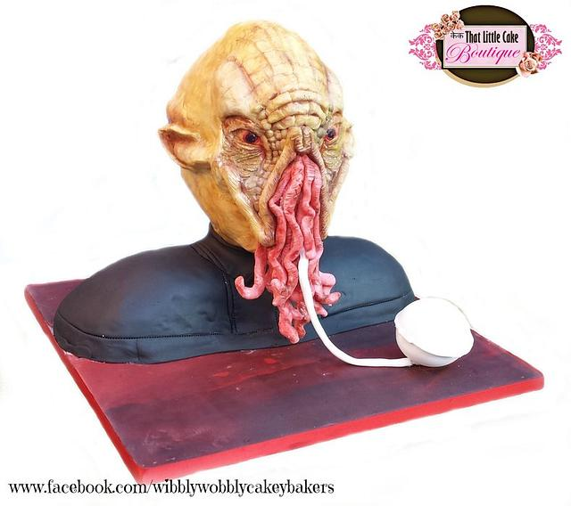 """Doctor Who """"Ood"""" Cake - Celebrating 50 years of Doctor Who"""