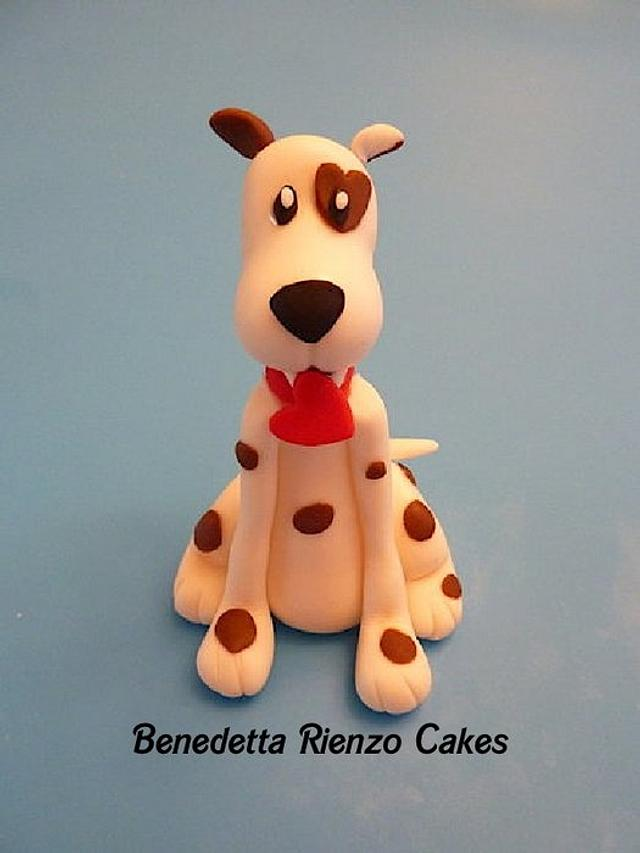 Valentine Dog Cake Topper