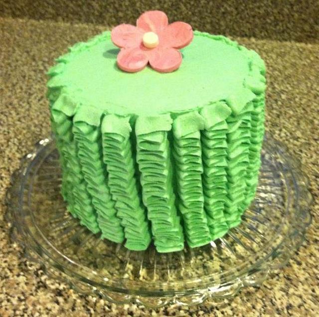 Pink Velvet Cake w/Ruffles