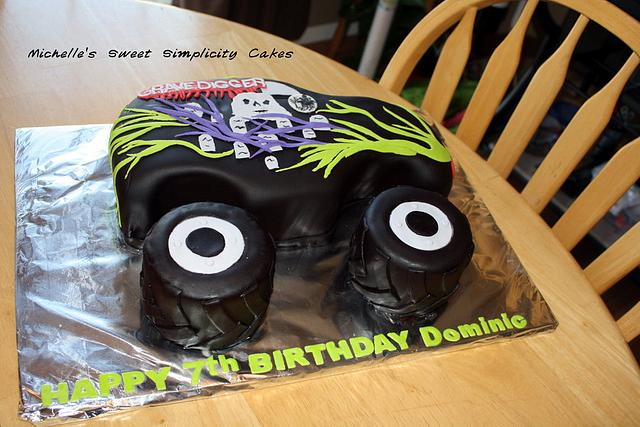 Fabulous Grave Digger Monster Truck Birthday Cake Cake By Cakesdecor Funny Birthday Cards Online Elaedamsfinfo