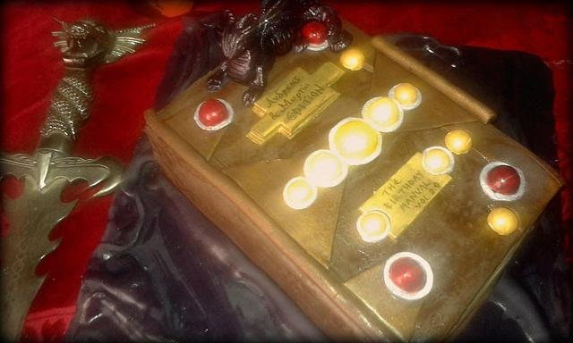 Dungeons and Dragons Manual cake
