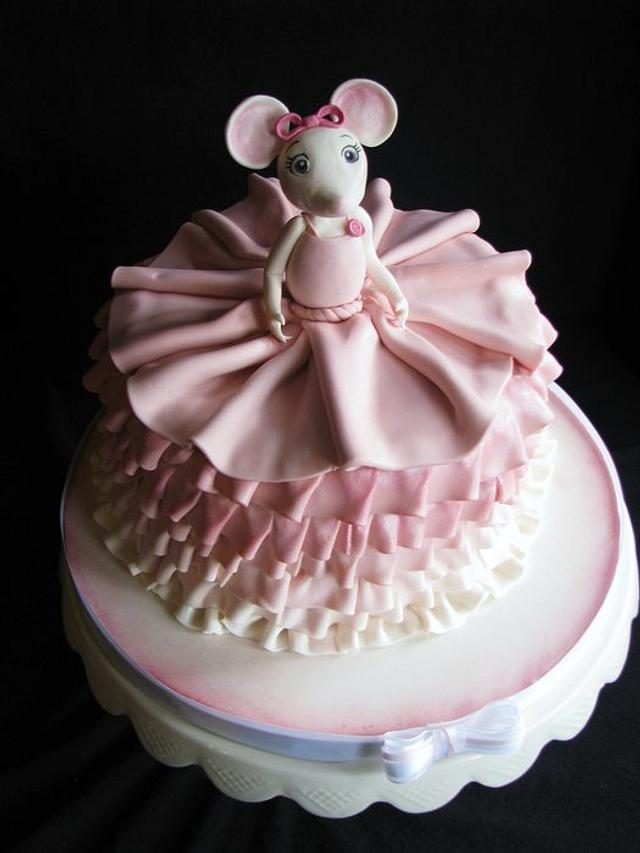 Swell Angelina Ballerina Birthday Cake Cake By Sarah Cakesdecor Personalised Birthday Cards Paralily Jamesorg