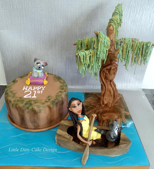 Superb Pocahontas Cake By Yve Mcclean Cakesdecor Personalised Birthday Cards Cominlily Jamesorg