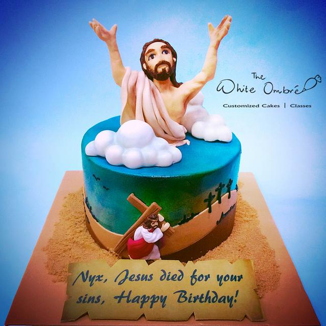 Fine Jesus Saves Cake By Nicholas Ang Cakesdecor Personalised Birthday Cards Veneteletsinfo