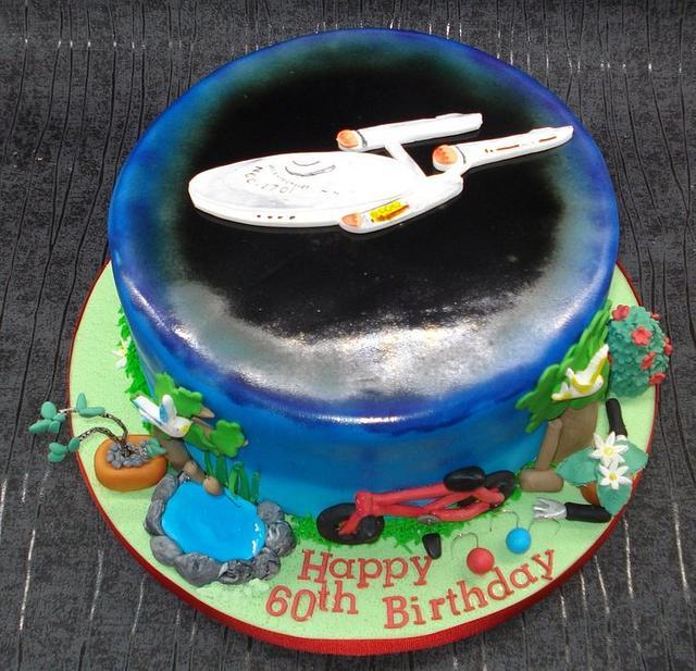 Star Trek cake, with a twist!