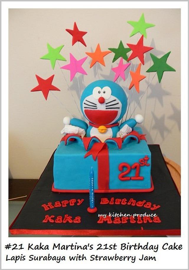 Doraemon exploding star cake
