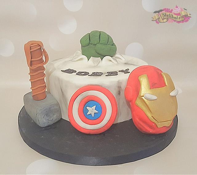 Amazing Avengers birthday cake