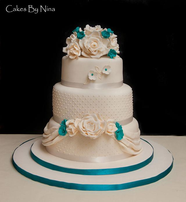 Cream and Teal Wedding