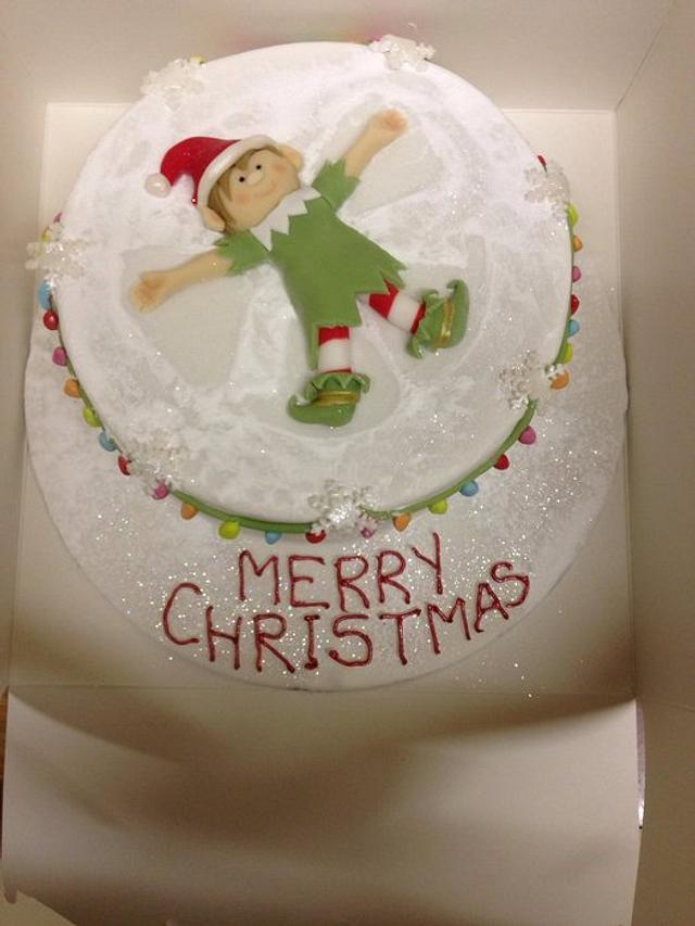 Snow Angel Elf Cake By Toots Sweet Cakesdecor