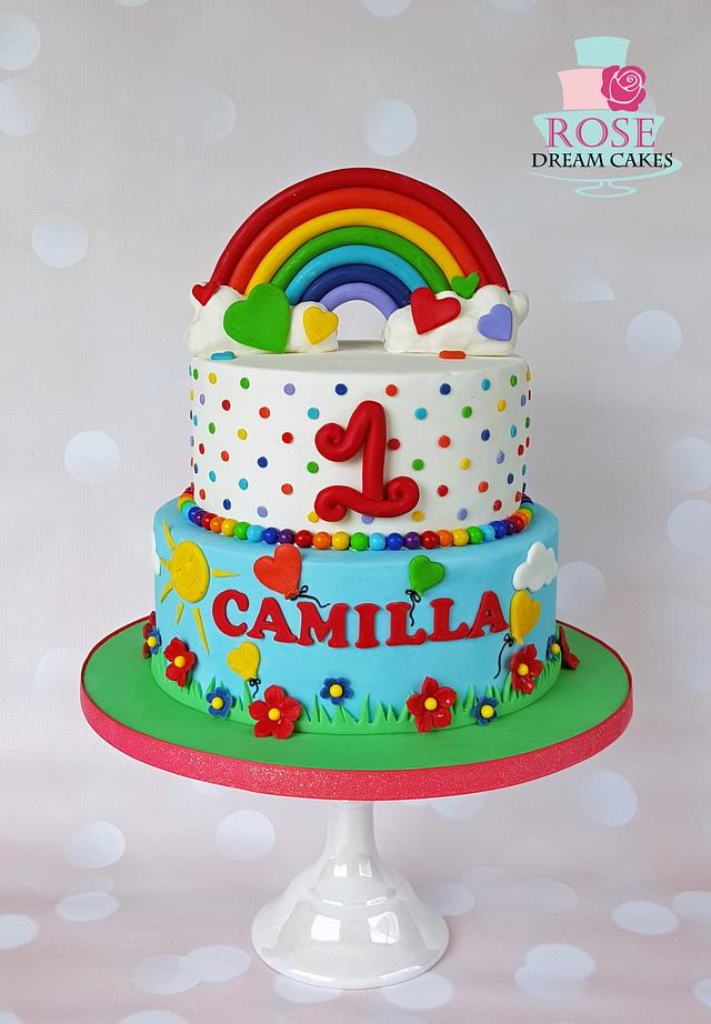 Swell Rainbow Birthday Cake Cake By Rose Dream Cakes Cakesdecor Funny Birthday Cards Online Elaedamsfinfo