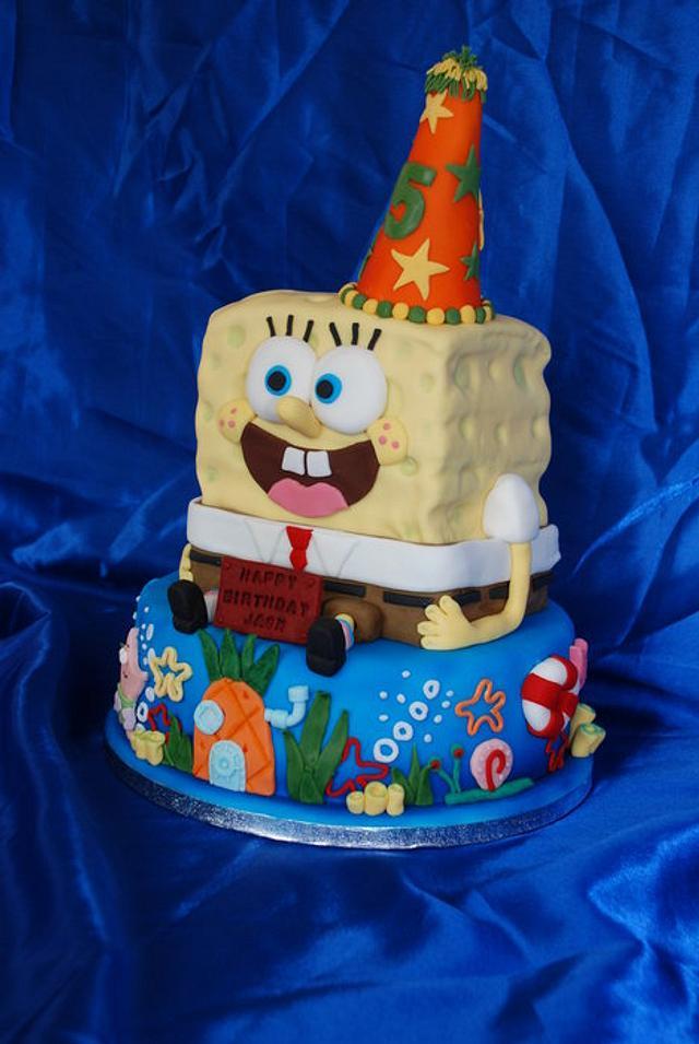 Excellent Spongebob Birthday Cake Cake By Cushty Cakes Cakesdecor Funny Birthday Cards Online Alyptdamsfinfo