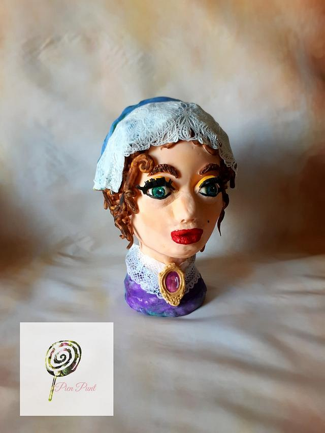 3d cake bust, lady