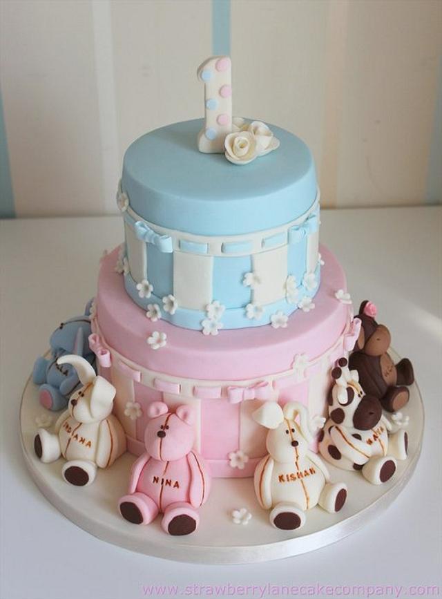 Joint 1st Birthday Cake