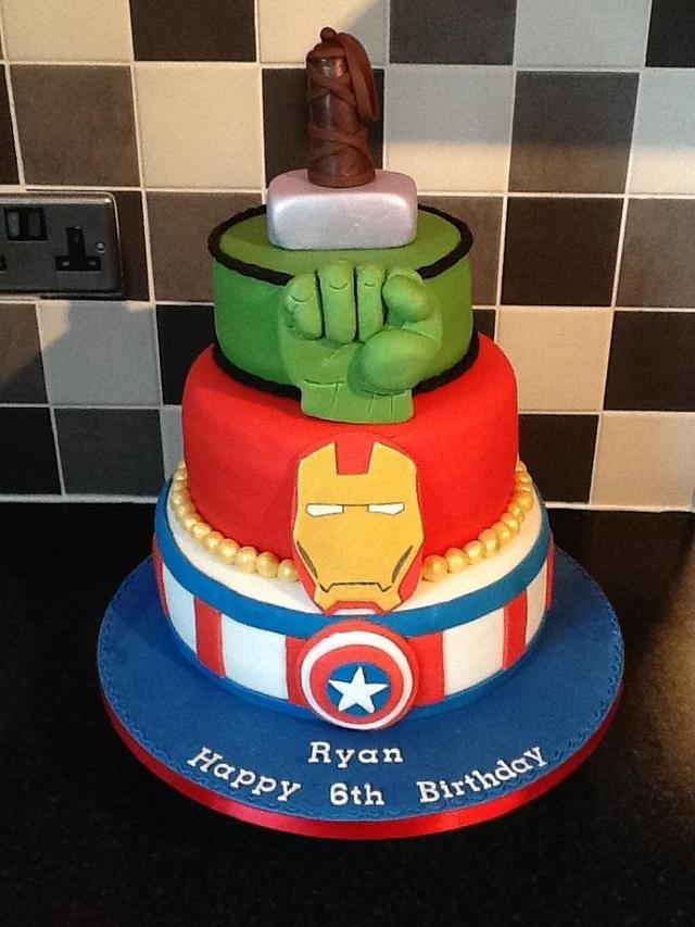 Avengers cake. - cake by Michelle. - CakesDecor