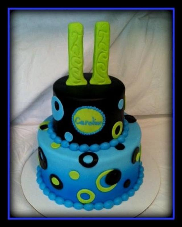 Stupendous Funky Circles Birthday Cakes Cake By Angel Rushing Cakesdecor Personalised Birthday Cards Arneslily Jamesorg