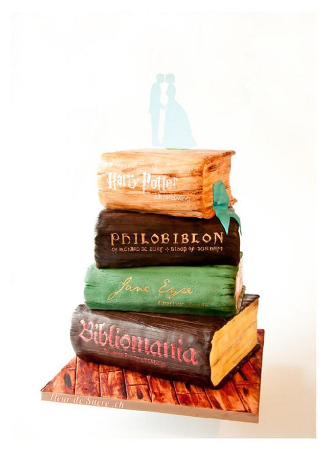 Vintage Books Wedding Cake