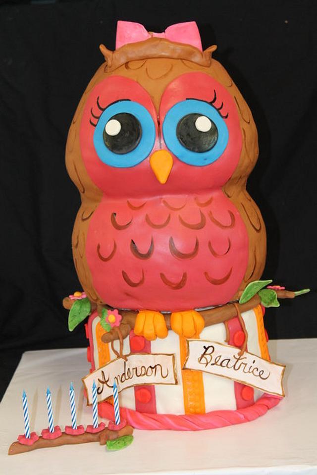 Pink Hootie Owl