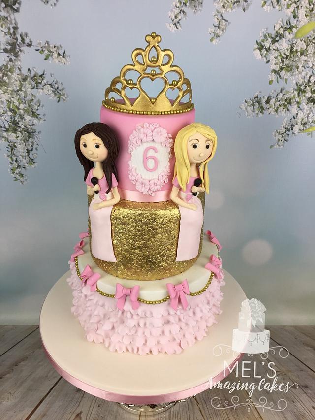 Two princesses birthday cake