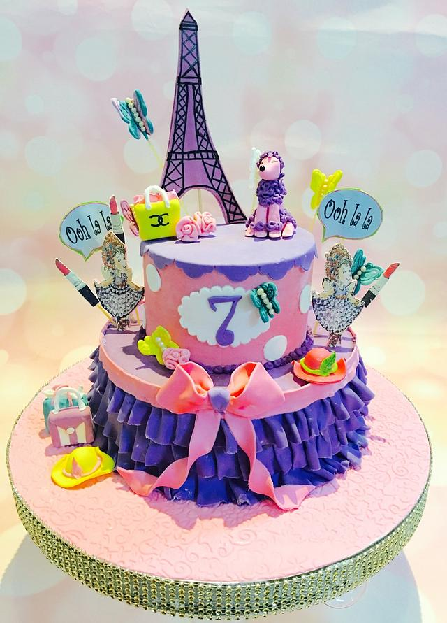 Cool Fancy Nancy Cake Cake By Aakanksha Cakesdecor Funny Birthday Cards Online Barepcheapnameinfo