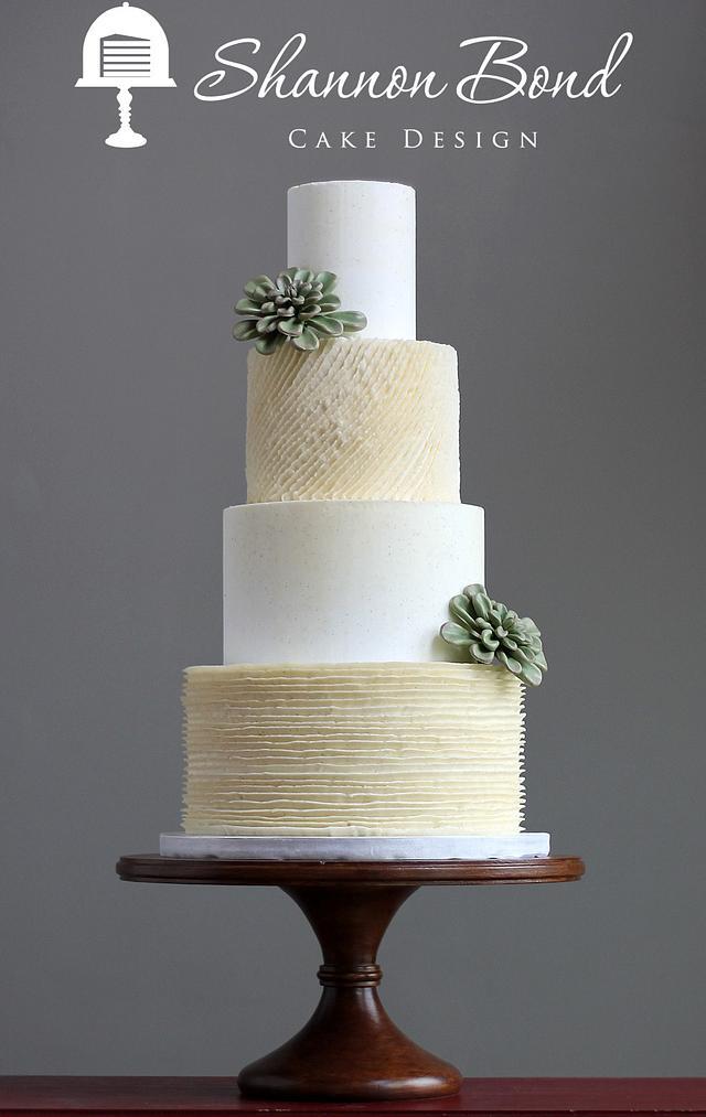 Buttercream Ruffles Wedding Cake
