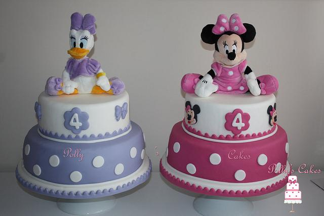 Astounding Daisy Duck Minnie Cakes Cake By Pollyscakes Cakesdecor Personalised Birthday Cards Vishlily Jamesorg