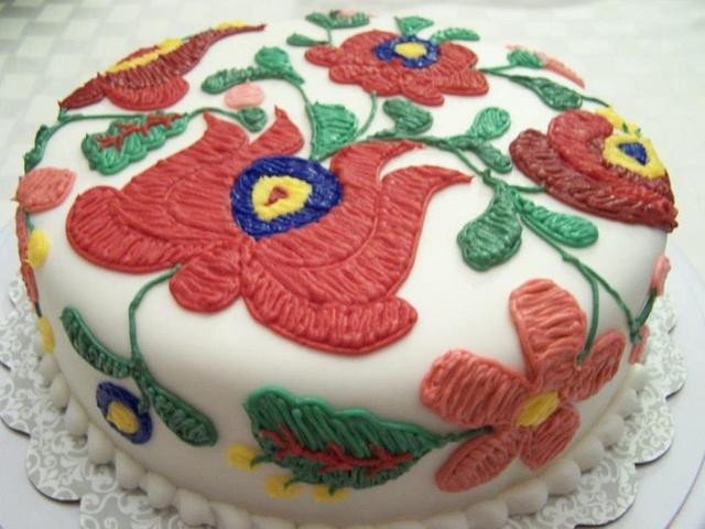 Hungarian Needlepoint Cake