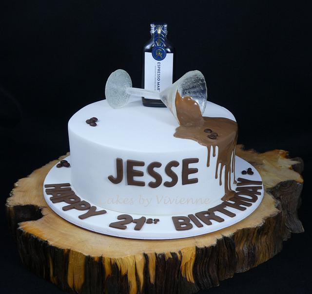 Magnificent Isomalt Martini Glass 21St Birthday Cake Cake By Cakes Cakesdecor Funny Birthday Cards Online Benoljebrpdamsfinfo