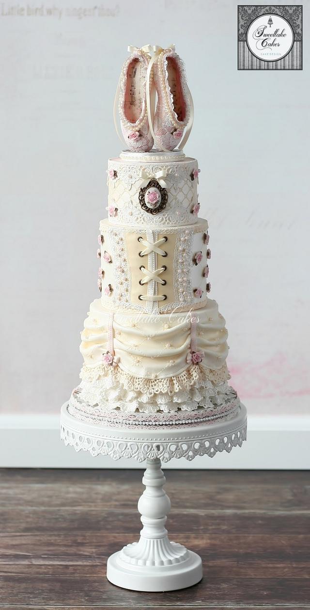 Vintage ballerina cake
