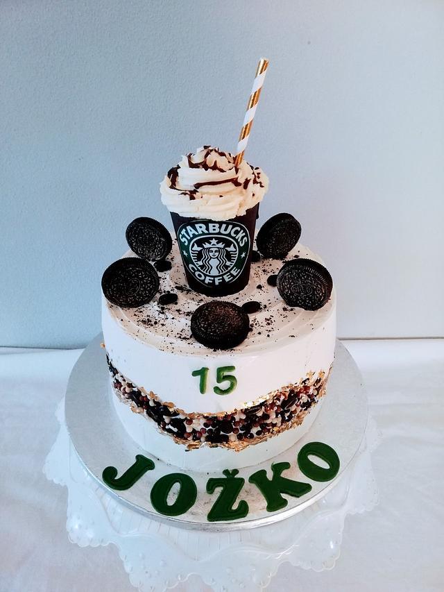 Terrific Starbucks Cake By Alenascakes Cakesdecor Funny Birthday Cards Online Unhofree Goldxyz