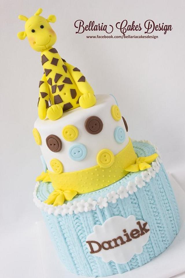 Giraffe baby cake