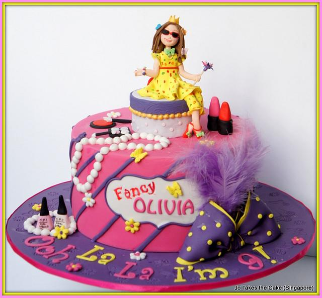 Admirable Fancy Nancy Take 2 Cake By Jo Finlayson Jo Takes The Cakesdecor Funny Birthday Cards Online Barepcheapnameinfo