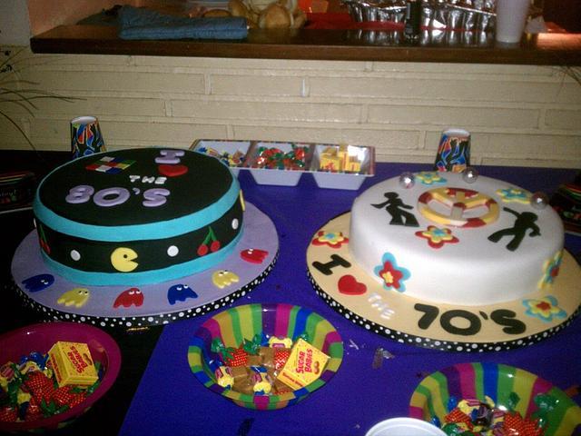 70's & 80's Theme Birthday Cakes
